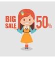 Big discounts seasonal sale banner vector image vector image