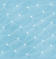 blue web triangle pattern vector image