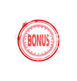 bonus watermark stamp circular icon isolated vector image vector image