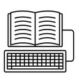 book keyboard writing icon outline style vector image