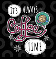 coffee trendy vector image vector image