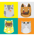 collection of funny dogs and cats vector image vector image