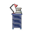 color crayon stripe silhouette of filing cabinet vector image vector image