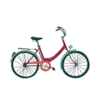 Colored doodle bicycle vector image vector image