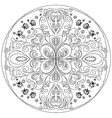 coloring mandala with ladybirds vector image vector image