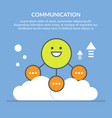 communication or interaction vector image vector image