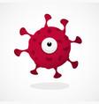 coronavirus character design covid-19 bacteria vector image vector image