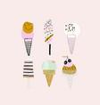creative hand drawn ice cream set summer vector image