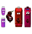 Currant berry and fresh juice vector image