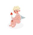 cute cupid with arrow love amur baangel vector image vector image