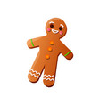 cute smiling fresh christmas gingerbread with vector image vector image