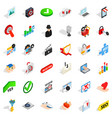 cyberspace icons set isometric style vector image vector image