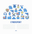 cybersport concept in half circle vector image vector image