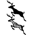 Deer jumping silhouette vector | Price: 1 Credit (USD $1)