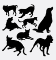 Dog pet animal silhouette 16 vector image