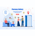 drugstore goods delivery service webpage vector image vector image