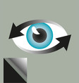 eye symbol surrounded by two arrows vector image vector image