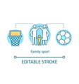 family sport concept icon time together idea thin vector image vector image