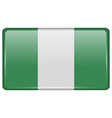 Flags Nigeria in the form of a magnet on vector image