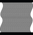 geometric wave black and white texture mesh grid vector image
