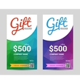 gift voucher template with colorful triangle vector image vector image
