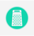 grater icon sign symbol vector image