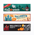 halloween party banner template design vector image