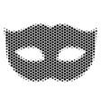hexagon halftone privacy mask icon vector image vector image