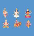 indian god ganesha vishnu lakshmi and saraswati vector image