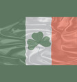 irish silk flag vector image vector image