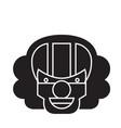 killer clown emoji black concept icon vector image vector image