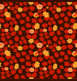 leaf autumn seamless with flower pattern seamless vector image vector image