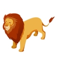 Lion isometric icon vector image vector image