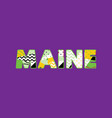 maine concept word art vector image vector image