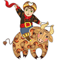 Man Bull Rodeo Isolated vector image vector image
