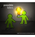 Man with bulb vector image vector image