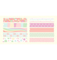 masking tape cute set vector image vector image