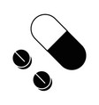medicine pills isolated vector image vector image