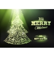 Merry Christmas and Happy New Year 2015 card vector image