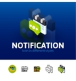 Notification icon in different style vector image vector image