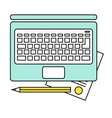 Online education concept e-learning studying vector image vector image