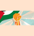 palestine independence poster fight and protest vector image