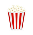 popcorn bucket full of popcorn items vector image
