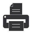printer hardware isolated icon vector image vector image