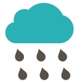 Rain Cloud Flat Symbol vector image vector image