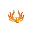 raise phoenix logo vector image