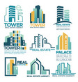 real estate agency or company skyscrapers vector image vector image