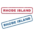 Rhode Island Rubber Stamps vector image