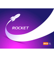 rocket fly takeoff space ship silhouette cosmos vector image