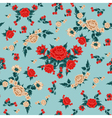 Roses Background Seamless Pattern vector image